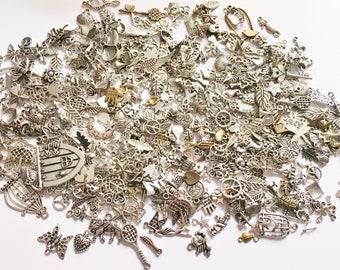Liquidation Bulk Charms Lot pendant bulk charm mix Silver  Brass Gold tone charm mix grab bag charms jewelry charm mix see listing