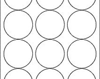 round printable label packaging white matte label sheet stickers self adhesive product label DIY blanks  Inkjet or laser  2.5  inch size