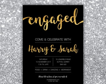 Engagement Party, Save the date, She said yes, Wedding invitation, Announcement, bridal shower, Birthday, Rehearsal dinner, Celebration