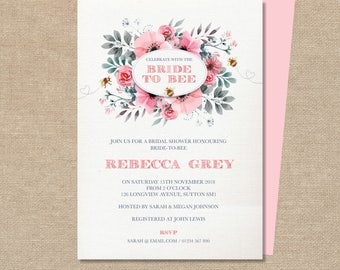 bbdb498aa64 Butterfly Wishes Bridal Shower Invitation Hen Party