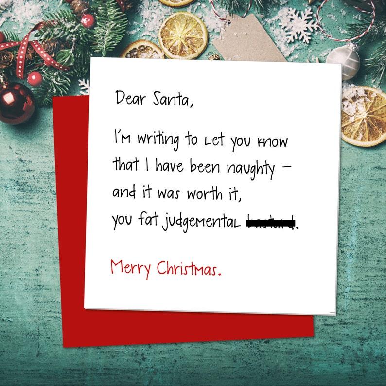 Carte De Noel Droles.Drôle Carte De Noël Carte De Voeux Drôle Carte De Noël Père Noël Carte De Juger Plaisanteries Carte Drôle Sarcastique Carte De Noël Cartes De