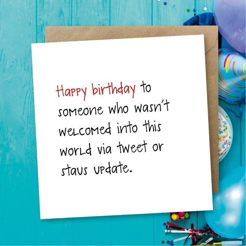 Funny Birthday Card Greeting Status