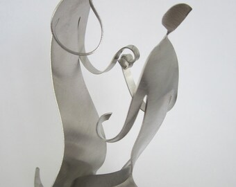 THE PROPOSAL- metal sculpture miniature- Couple Series