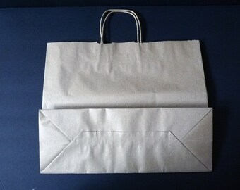 Pack of 10 Kraft Handle Bags // Size 16 x 16