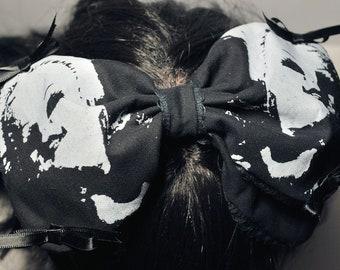 Creepy Doll Heads Gothic Lolita Hair Bow - Horror, Kawaii