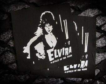 Elvira Screen print Sew-on Patch - Goth, Punk, Horror
