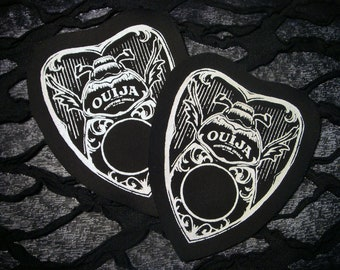 Beetle Ouija Planchette Screen print Sew-on Patch - Horror Goth