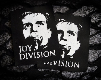 Joy Division Ian Curtis Screen print Sew-on Patch - Post Punk, Goth