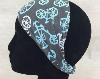 Bicycle Gifts | Grey Bicycles | Doctor Gift Yoga Headband Bandana Wrap Vintage Bicycles Womens Headband Yoga Headband Workout Best WIde