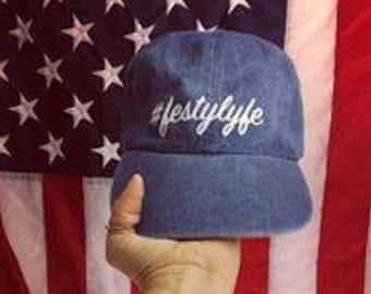 Festy Lyfe Denim Dad Hat