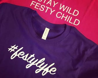 Festy Lyfe Crop Tops... Stay Wild Festy Child Tees