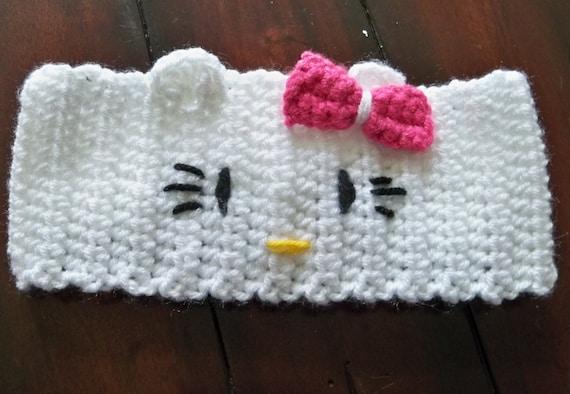 Crocheted Hello Kitty Headband Etsy