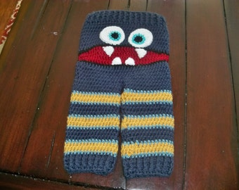 Crocheted MONSTER PANTS for Children