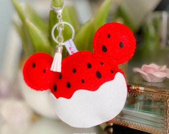 Disney Christmas Ornament Tsum Tsum Ufufy Personalized Gifts for Her or Him Ghost Minnie Mickey Disney Hand Made Keychain