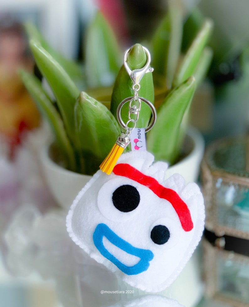 Toy Story Forky spork Hand Made Keychain Bag charm Matching Mickey Ears Tsum Tsum Ufufy Disney Personalized Gifts for Her or Him