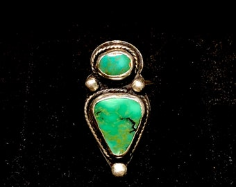 Gorgeous green turquoise statement ring