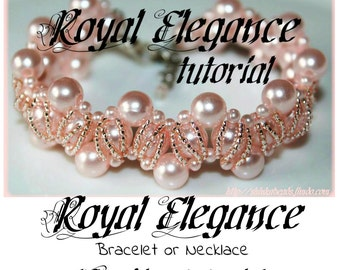 Royal Elegance Beading Pattern PDF bracelet or necklace beading pattern tutorial technique