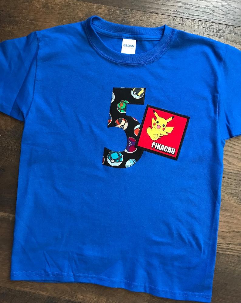 63ce2484 Boys Pokemon Birthday Shirt Pikachu Bulbasur Charmander | Etsy