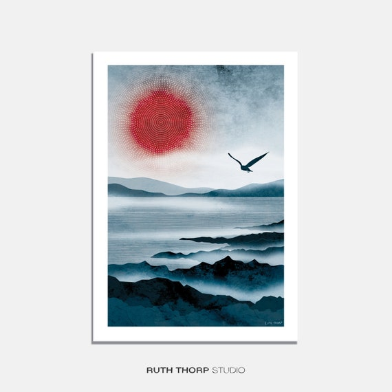 Northern Sun Art Print: A4, A3, A2, A1