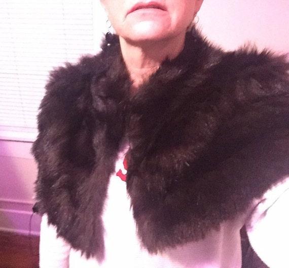 Fox Fur Vintage Capelet Pristine