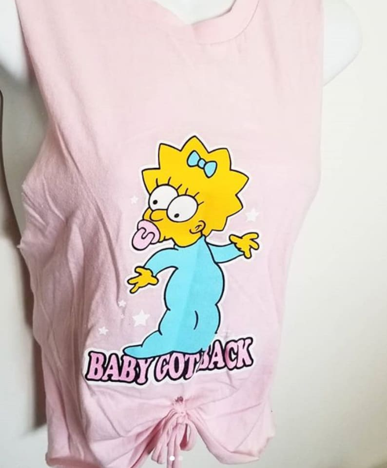 The SImpsons Maggie tank top size small