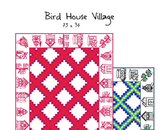 Birdhouse Village Embroidery-Quilt Pattern