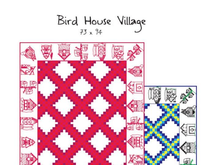 Birdhouse Village Embroidery-Quilt Pattern