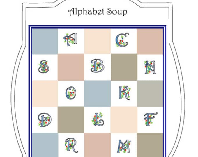 Alphabet Soup Embroidery-Quilt Pattern