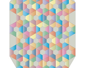 Crazy for Hexagons (pdf pattern download)
