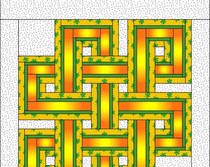 Celtic Knot Quilt Pattern-PDF Download