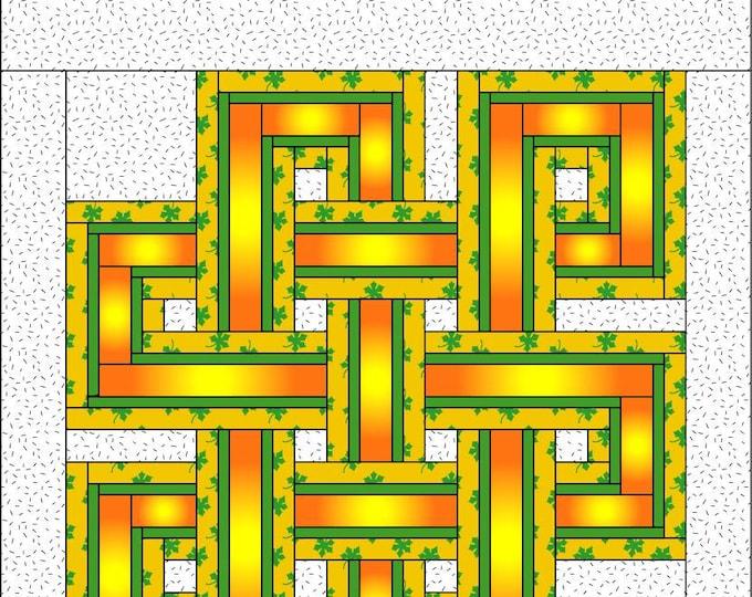 Celtic Knot Quilt Pattern-PDF Download