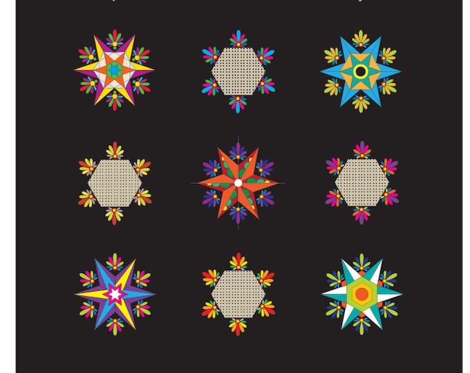 Fiesta Stars - pdf quilt pattern