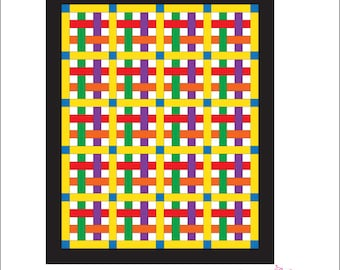 Weaving Ribbons Quilt Pattern (download)