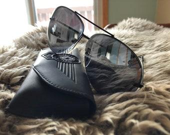 b957881588 80 s Vintage Harley Davidson Aviator Sunglasses