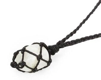 Rainbow Moonstone Necklace, Healing Crystal Jewelry, Healing Crystal Necklace, Moonstone Jewelry