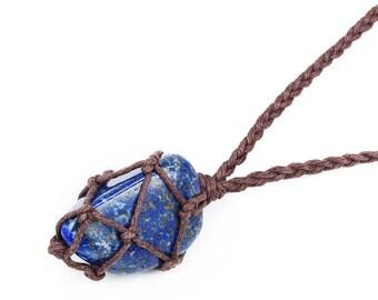 Lapis Lazuli Necklace, Healing Crystal Necklace, Lapis Necklace, Chakra Necklace, Healing Stone Necklace, Lapis Lazuli Jewelry