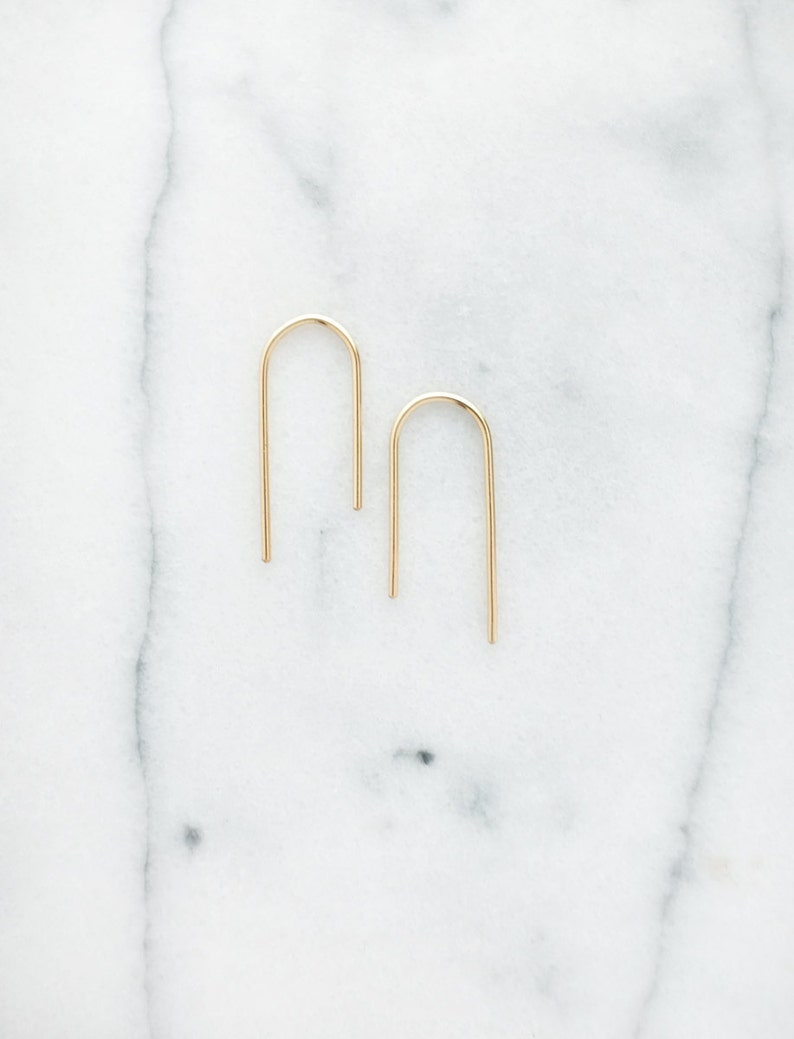 Asymmetric Arch Earrings Small image 0