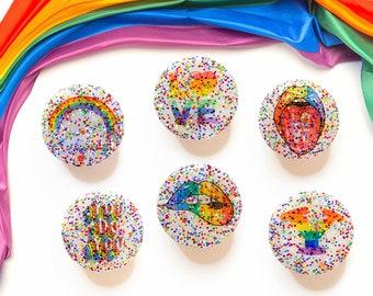 Rainbow LGBT PopSocket or Badge Reel (9 Styles) Phone Grip Gift