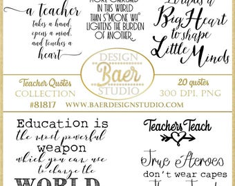 inspirational teacher quotes printable quotes teachers digital word art back to school quotes teacher appreciation word art 81817