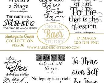 Shakespeare Quotes Etsy