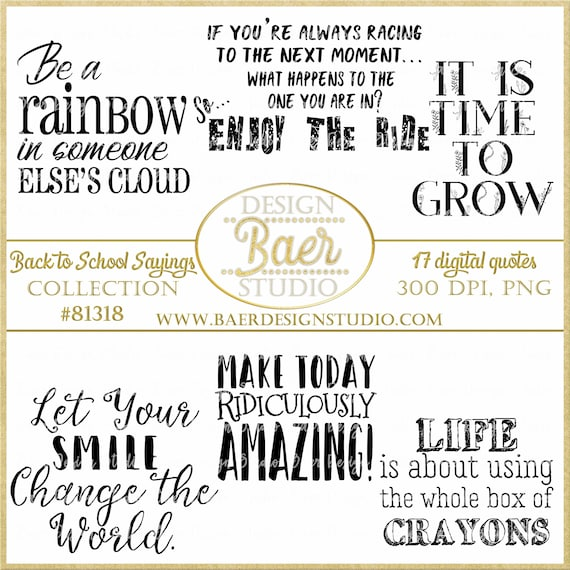 Education Printable Quotes:Graduation Quotes, Back to school quotes,  Teacher Appreciation Quotes, Digi Stamps, Sayings #81318