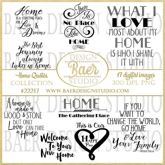 Printable Quotes Home Quotes Inspirational Quotes Clip Art Etsy