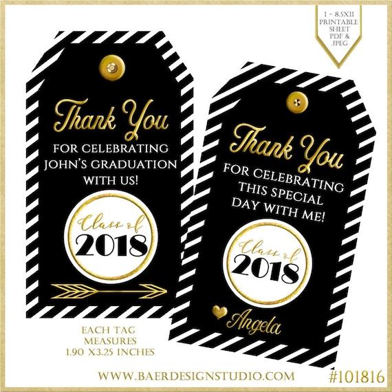 graduation thank you tags graduation tags thank you tags etsy