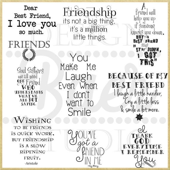 Best Friend Quotes, Friendship Quotes, Printable Quotes, Inspirational  Quotes, Friendship Word Art, Friend Digi Stamps, #62816