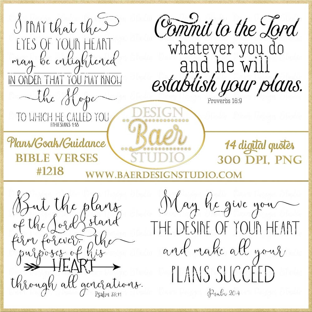 Bible Quotes Bible Verses About Planning Graduation Quotes Etsy