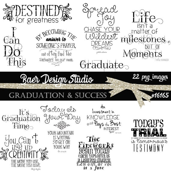 Graduation Clip Art Graduation Quotes Graduation Word Art Etsy Gorgeous Quotes About Graduation