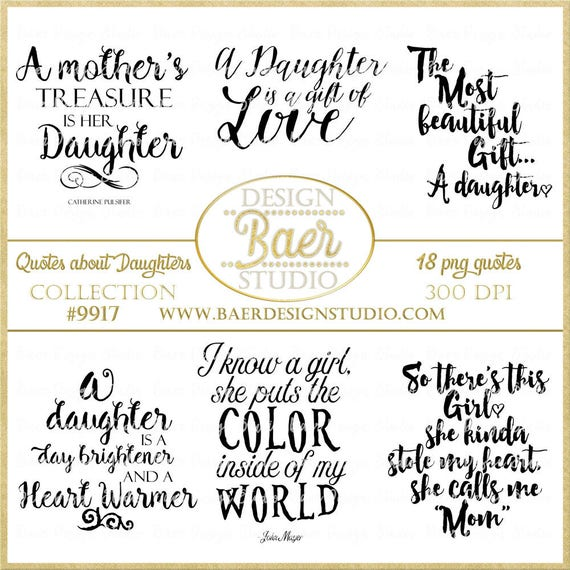 Daughter Quotes | Daughter Quotes Digital Quotes Printable Quotes Word Art Etsy