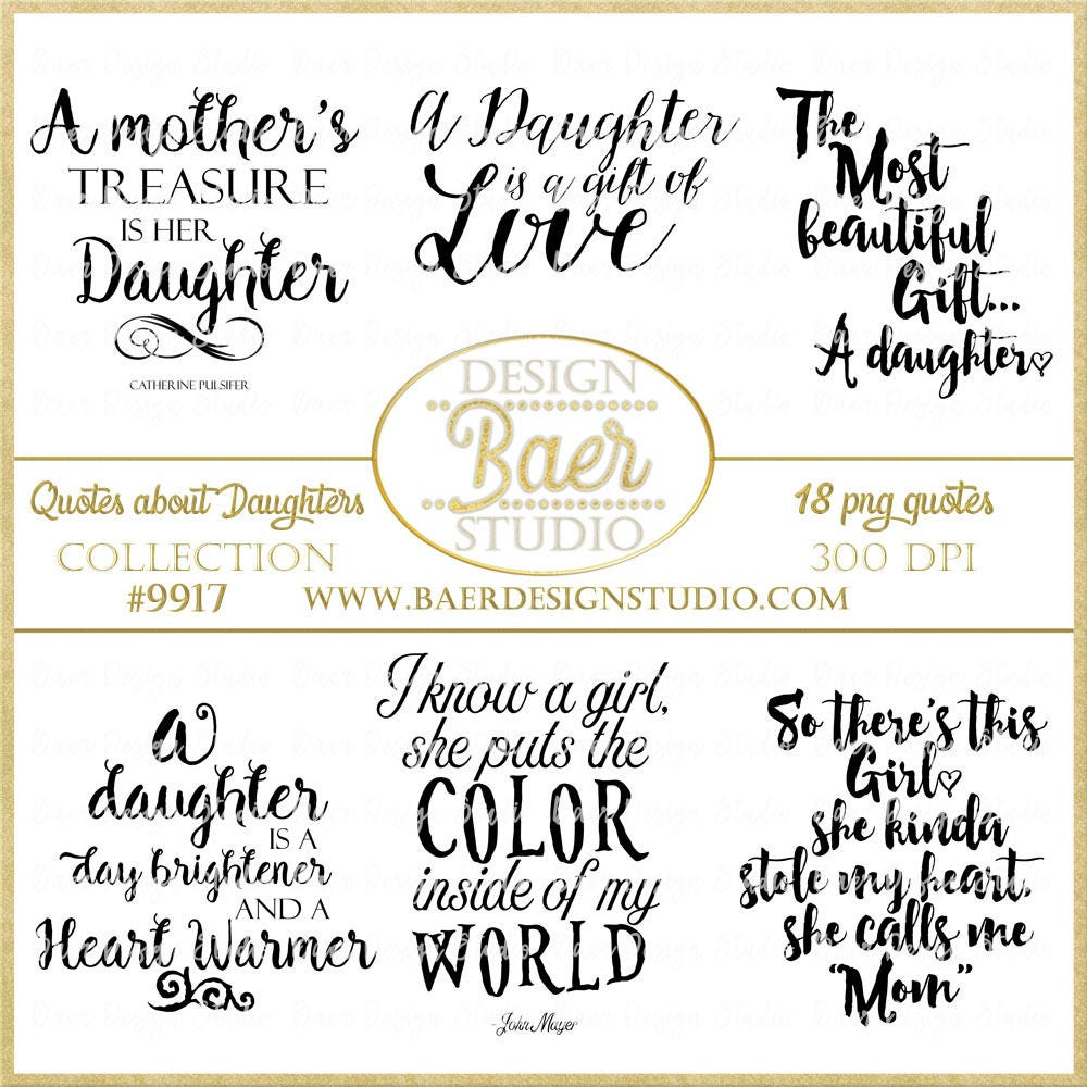 For Daughter Quotes: Daughter Quotes Digital Quotes Printable Quotes Word Art