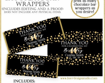 Hershey Bar Wrapper:Personalized Candy Bar Wrappers, Chocolate Wrappers, Printable Custom Hershey Bar Wrapper Birthday, 12219