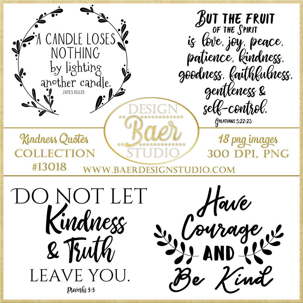 Kindness Quotesword Art About Kindness Inspirational Quotes Etsy